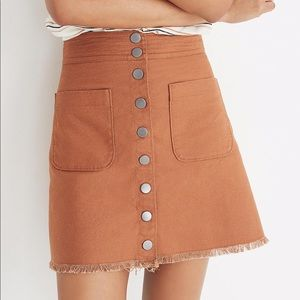 MADEWELL High Waisted Snap Up Skirt 2